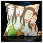 Customized high quality digital printing cotton canvas cushion
