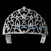 Royal Crown Crystal Rhinestone Tiara 16 year daisy flower crown headband unque pattern FC800380