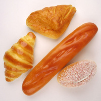 International Bread Set-Fake Food Bread Roll Pastry/French Loaf Bakery Assortment Props