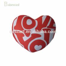 fashion wholesale heart shape plush car pillow cushion, cheap and high quanlity car pillow cushion