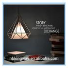 Vintage Diamond Iron Cage light Indoor Chandelier Light