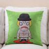 New product Devil Fruit serious character digital print wholesale custom decorative fancy comfort soft cartoon lumbar pillows