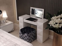 diamond decoration dresser table with stool wood chinese stool