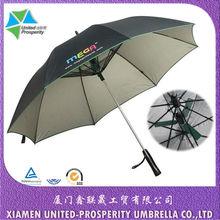 Fancy customized color summer cool fan sun blocking golf umbrella