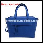 2014 new arrive winter classic Royal blue elegnace ladies tote bags