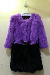 The New Fashion Rex Rabbit Fur Coat,Real Fur Clothes