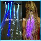 Wholesale Customize Logo Cheap Festival Party Celebration Rainbow Color Flashlight Plastic LED Hair Extension