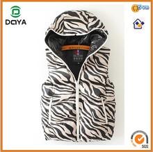 2014 Hot Sell Girls Down Vest Girls Waterproof Zebra Vest