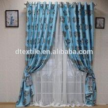 Popular 2015 design light blue Jacquard style ready made curtain WYA5-56