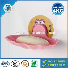 Funny cheap wall stick plastic soap dish