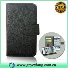 Black leather pu Flip Case For blu DASH4.5