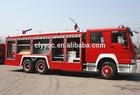 SINOTRUK HOWO fire truck 6X4 used fire truck water capacity