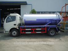 Dongfeng 4x2 vácuo caminhãodesucçãodeáguadeesgoto, 3m3 esgoto de sucção do caminhão-tanque