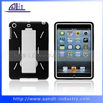 Black And White Double Color Wholesale Price Robot Cases For iPad Mini