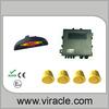 Car Reverse Rear Radar System 4 Blue Wire Parking Sensor With LED Display BiBi Buzzer Kit