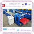 Cnc automático de Metal de alumínio GI / Aluzinc painéis de papelão ondulado folha de cobertura cor vitrificada passo azulejo rolo dá forma à que faz a máquina