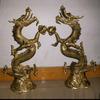 Bronze Chinese Dragon Brass Statue Sculpture