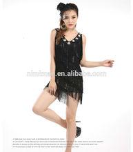 Sexy robe de danse latine 2014 bon ballroom dance robe pour les filles, franges robe de danse