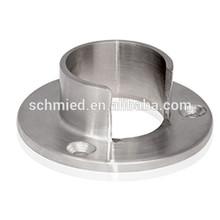 in acciaio inox base rotonda per tubo alloggiamento
