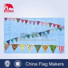 custom design printed festival celebrating hanging bunting