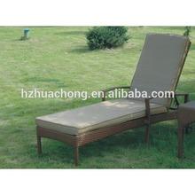 HC-J024-C shape beach sun lounger with cushion