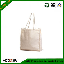 High quality wholesale white shopping tote bag, shopping bag cotton