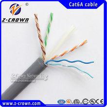4*2*0.57mm fluke lan cat5 e / cat 6 cable 23awg /24awg with copper cat6 utp