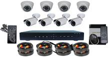 1000TVL CCTV Camera & H.264 8CH DVR KIT camera de video surveillance