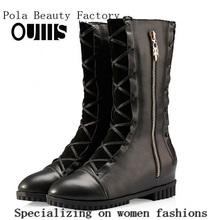 half boots women design fashion flats N-HP813