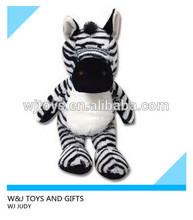 2014 hot selling standing stuffed zebra plush wild animal