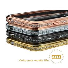 Luxurious Hybrid Diamond Aluminum Bumper decorative cell phone case production