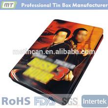 rectangular metal CD/DVD tin box/case
