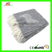 E027 Luxury Fur Blanket Sheep Wool Blanket