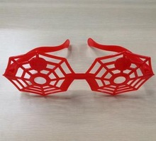 spider web glasses for halloween with red color