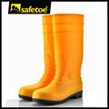 Laranja botas de chuva, plástico chuva botas, galochas botas de chuva w-6038y