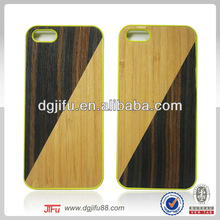 bamboo covered phone case for iPhone 5,PC+bamboo protective phone accessory