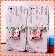 Hot sale handmade carousel bling pc case for iphone5 5s