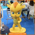 custom decorative fiberglass cute dragon statue