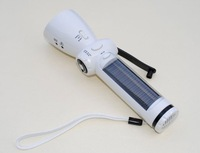 Solar flashlight with LED lighting and mobile phone charger when hand crank,solar flashlight Ms Coco