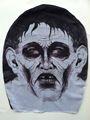 la cara del fantasma de lujo parte de arriba de horror de halloween máscara