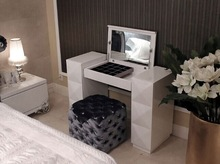 diamond decoration dresser table with stool bedside stool