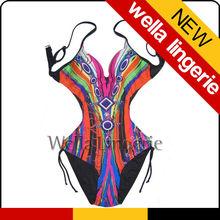 WELLA LINGEIE Dramatic Floral Print top selling mature women in bathing suits