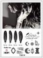 Ts014 laço de couro e adesivos de tatuagem/segura impermeável e alergia tatuagem temporária etiqueta