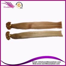 Italy glue grade AAAAA ,flat tip,light color hair extention