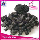 Top quality cheap virgin indian remy hair extension, spring curl human hair weaving