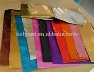 Kolysen papier d'aluminium pour l'emballage de chocolat feuille en relief