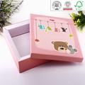 Promocionais reciclável de alta qualidade bebê caixas de presente para decorar design certificada pela iso, bv, sgs, ex preço de fábrica