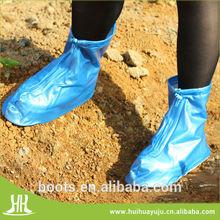 women's ankle plastic rain shoes cover matching raincoat