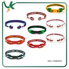 Soccer Team Flag Silicone Rubber Cotton Bracelet, Soccer Bracelet, Soccer Wristband