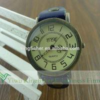 2014 Hot sale leather wrap large wrist women watch china supplier hot quartz movt vogue watch large wrist women watch